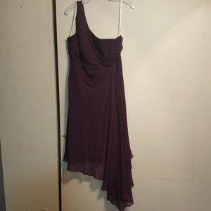 David bridal bridesmaid dress plum color